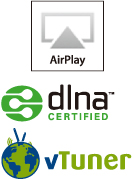 AirPlay/dlna CERTIFIED/vTuner